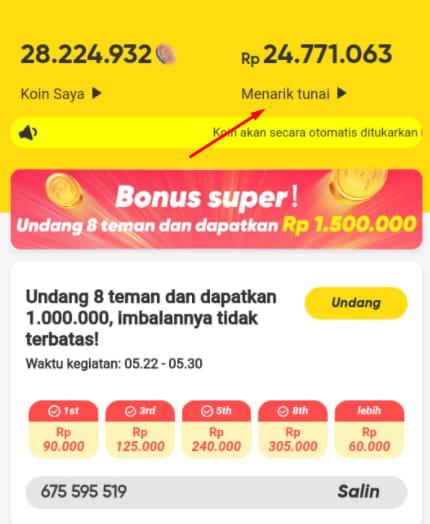 Cara Mencairkan Uang Di Snack Video