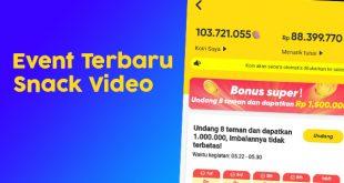 Event Terbaru Snack Video Bagikan Uang 1 Juta Gratis