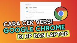 Cara Cek Versi Google Chrome Di HP dan Laptop