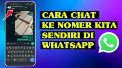 Cara chat diri sendiri di whatsapp kecil